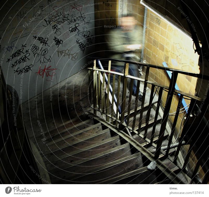 Man Adults Wall (building) Graffiti Movement Stone Wall (barrier) Art Masculine Stairs Culture Under Handrail Historic Shabby Banister