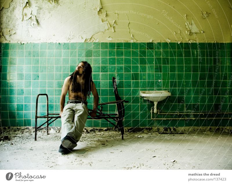 Old Water Green Beautiful Loneliness Calm Relaxation Death Wall (building) Hair and hairstyles Legs Line Room Power Dirty Arm
