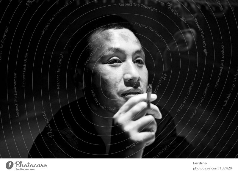 Face Dark Dangerous Smoking Asia China Concentrate Cigarette Japan East Criminal Poker Asians Game of cards Human being Vietnam