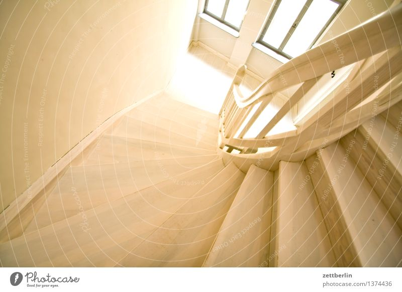 staircase Stairs Wood Wooden ladder Landing Staircase (Hallway) House (Residential Structure) Living or residing Apartment Building Tower block Old building