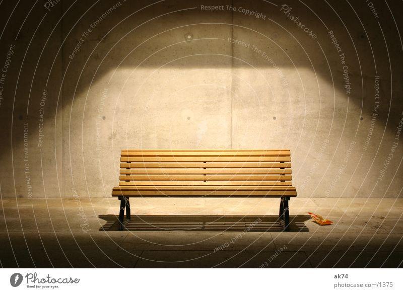 Calm Loneliness Lamp Architecture Concrete Bench
