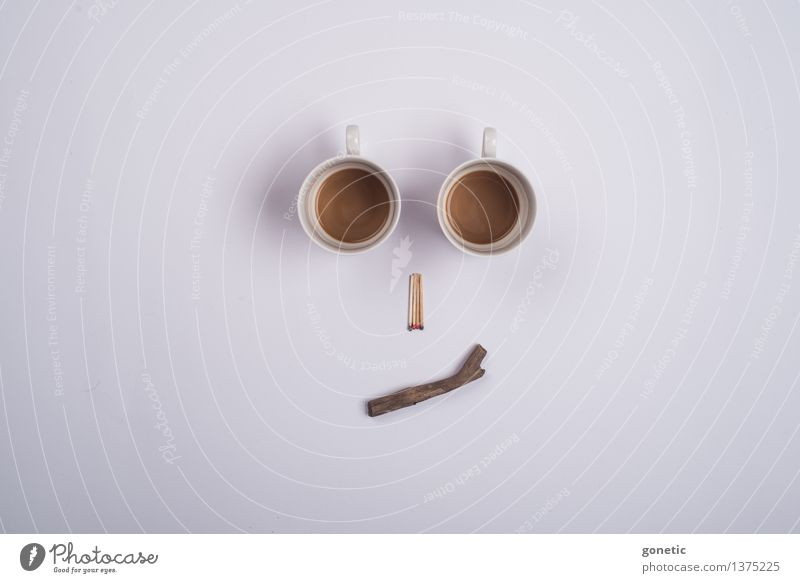 Face Wood Creativity Coffee Match Café au lait Super Still Life