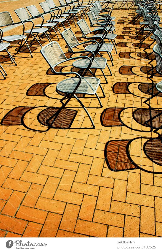 Sun Vacation & Travel Free Empty Chair Concert Furniture Row Audience Traffic infrastructure Parquet floor Row of seats Rügen Promenade Visitor Camping chair