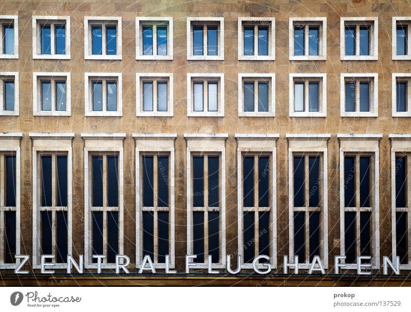Vacation & Travel Window Berlin Architecture Flying Aviation Characters Tilt Historic Middle Monument Row Landmark Airport Entrance Word