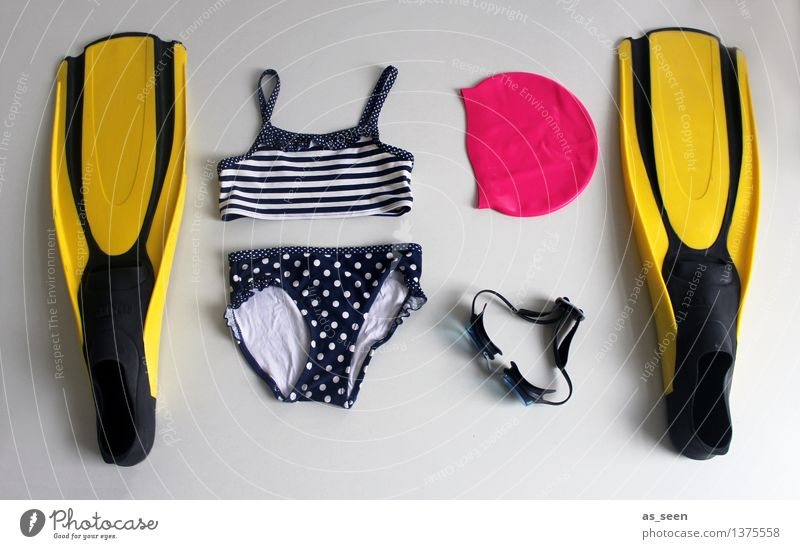 Pack your swimming trunks! Swimming & Bathing Water wings Swimming goggles Girl Infancy Summer Beautiful weather Bikini Swimming trunks Bathing cap Utilize Lie