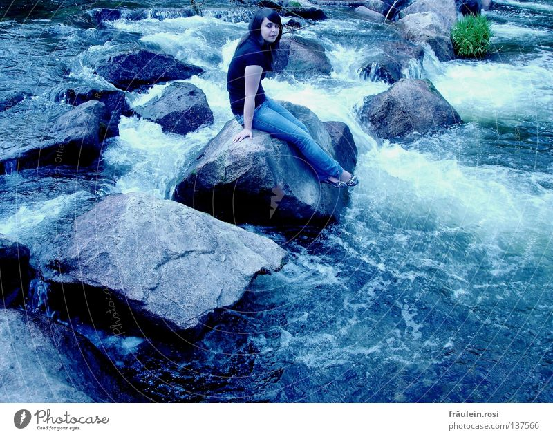 Water Cold Think Rock Sit To hold on Well-being Testing & Control Current Splashing