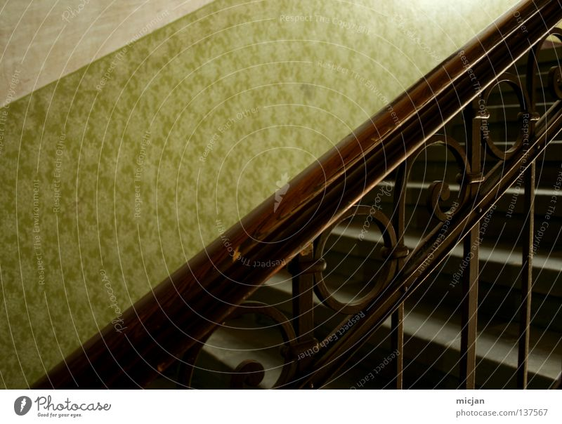 fancy. Wood Wallpaper Pattern Graphic Green Brown To hold on White Gray Design Retro Circle Flower Iron Hold Staircase (Hallway) House (Residential Structure)