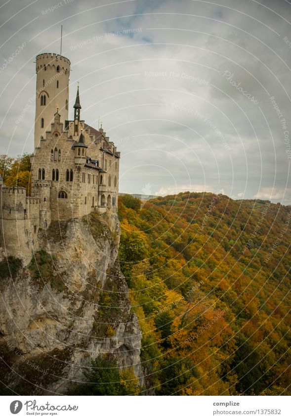 Lichtenstein Castle Vacation & Travel Tourism Far-off places Flat (apartment) House (Residential Structure) Dream house Environment Climate Wall (barrier)