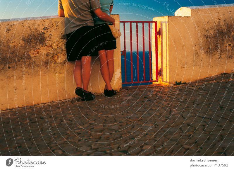 Sky Ocean Blue Red Summer Vacation & Travel Love Yellow Colour Couple Friendship Legs Orange Door Horizon In pairs