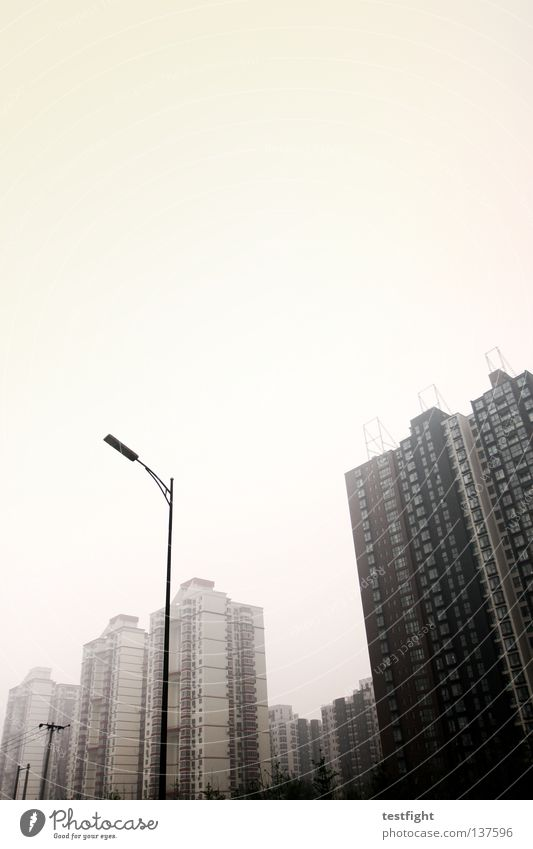 City House (Residential Structure) Loneliness Life Dirty Architecture Fog Gloomy Living or residing China Stress Doomed Environmental pollution Smog Beijing