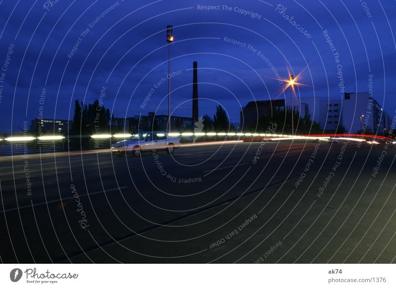 Street Lamp Berlin Car Bridge