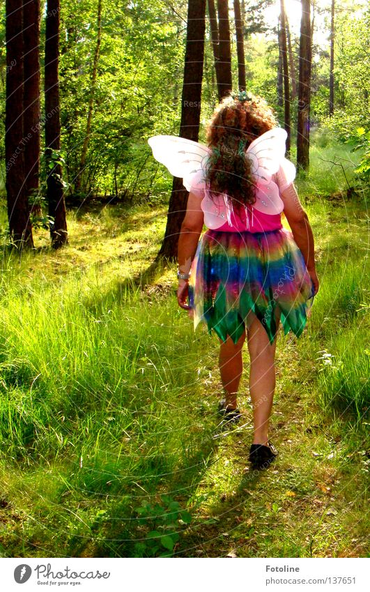 Tree Summer Leaf Forest Grass Laughter Hair and hairstyles Footwear Earth Floor covering Dress Wing Fellow Elf Clearing
