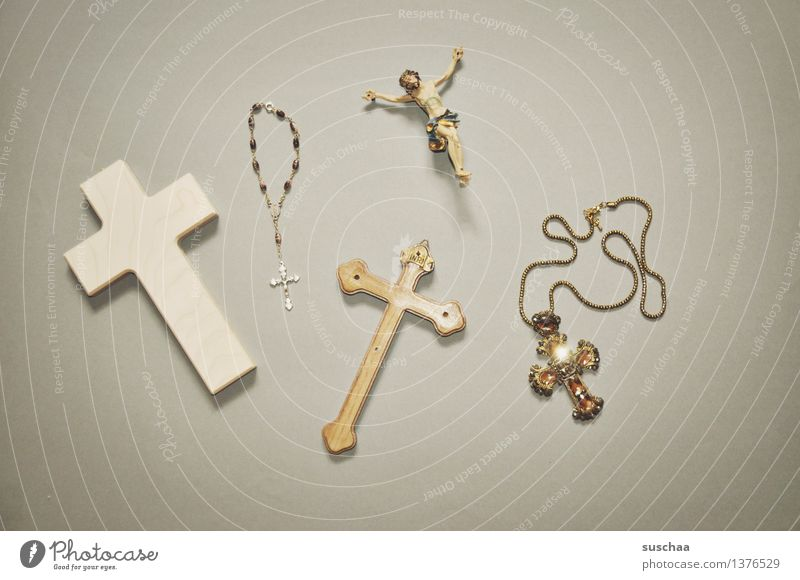 believe II Crucifix Christian cross Rosary Jesus Christ Religion and faith God Christianity Catholicism Symbols and metaphors Super Still Life