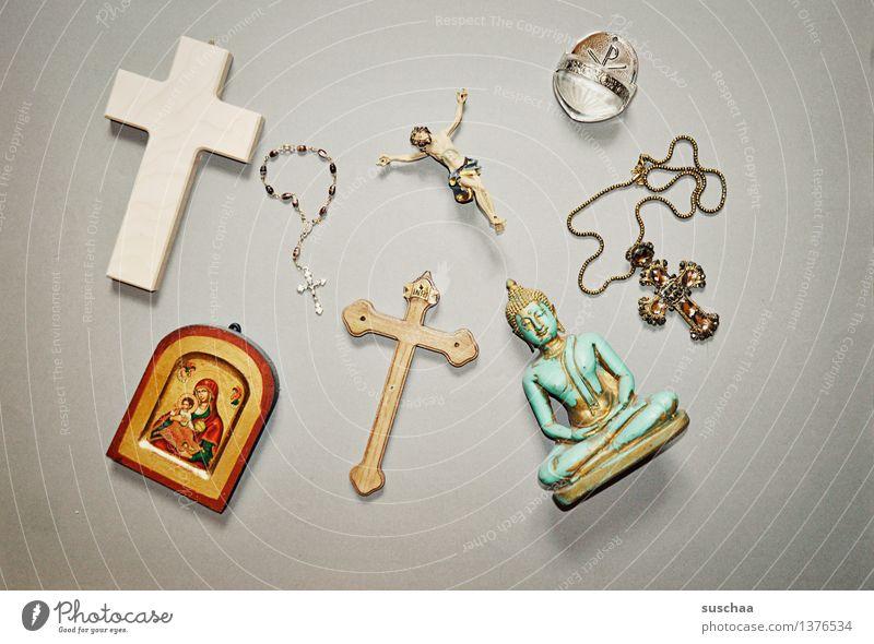 Religion and faith Symbols and metaphors Christian cross Crucifix God Christianity Jesus Christ Buddha Buddhism Catholicism Icons Rosary Super Still Life