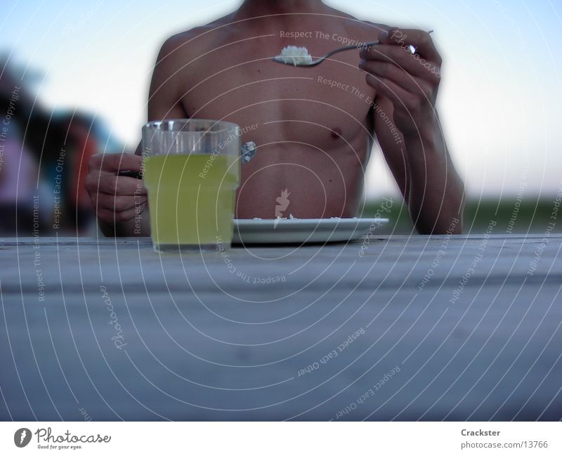 Man Nutrition Glass Musculature Spoon Rice Cutlery Washboard