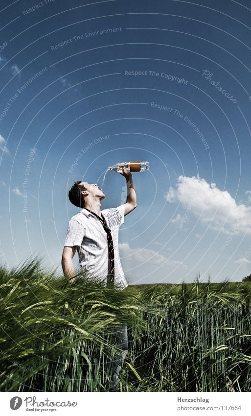 Water Sky Blue Summer Cold Warmth Field Wet Drinking Posture Physics Pure Gastronomy Hot Fluid Shirt