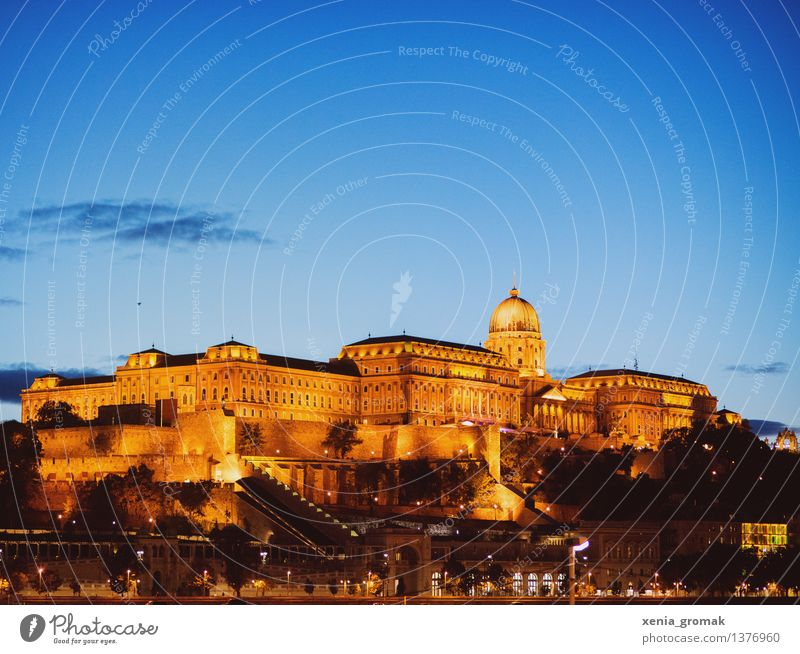 Budapest at night Vacation & Travel Tourism Trip Adventure Far-off places Freedom Capital city Downtown Old town Palace Castle Manmade structures Architecture