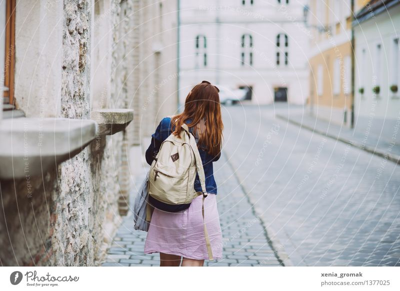 Human being Vacation & Travel Youth (Young adults) Summer Young woman Relaxation Joy Far-off places 18 - 30 years Adults Life Lifestyle Freedom Tourism Leisure and hobbies Hiking