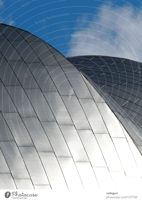 Jay Pritzker Pavilion Chicago Roof Reflection Steel Round Building Architecture Modern Detail Metal Sky
