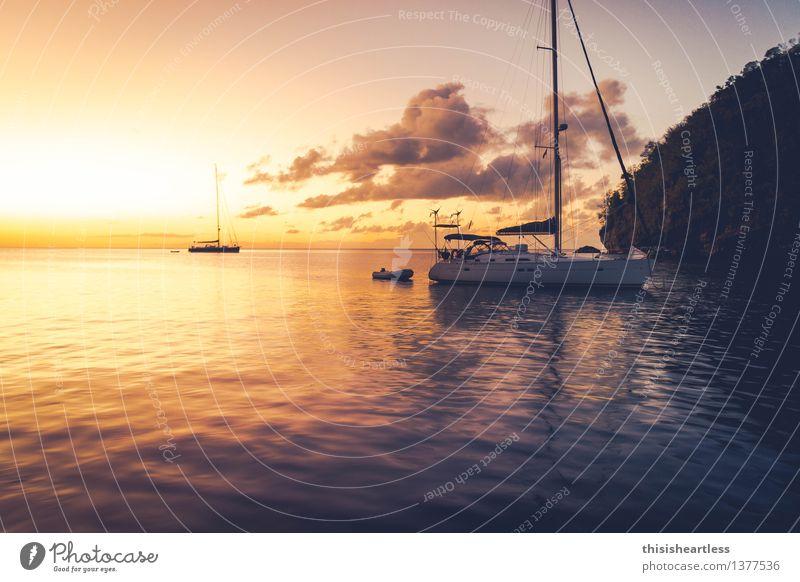 sundowner Lifestyle Vacation & Travel Summer vacation Ocean Island Aquatics Sailing Water Coast Bay Fjord Navigation Sport boats Yacht Sailboat Sailing ship