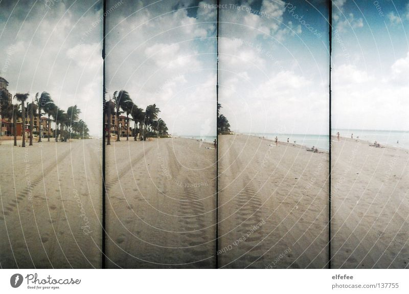 Sky Sun Ocean Summer Beach Vacation & Travel House (Residential Structure) Clouds Loneliness Relaxation Lomography Sand Coast Empty USA Tourism