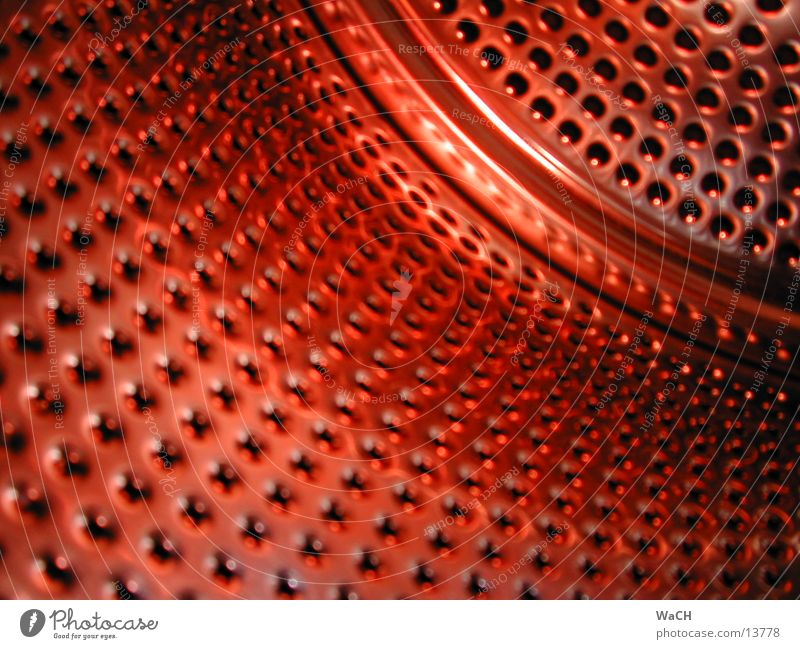 Red Style Industry Technology Steel Dry Character Aluminium Abstract Washer Drum Plate with holes Chrome Photographic technology Electrical equipment
