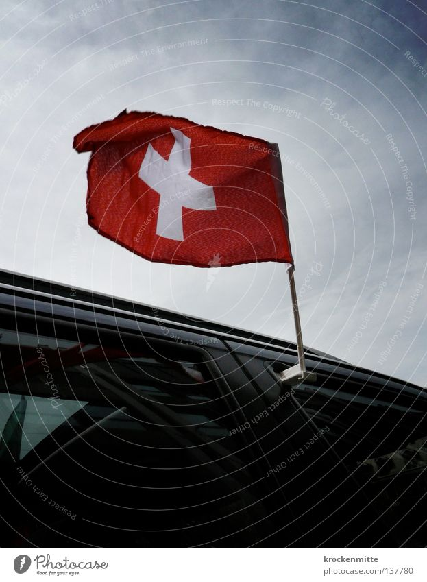 Sky White Red Car Flag Switzerland Pride Blow Judder Patriotism Ensign Swiss flag Confederate