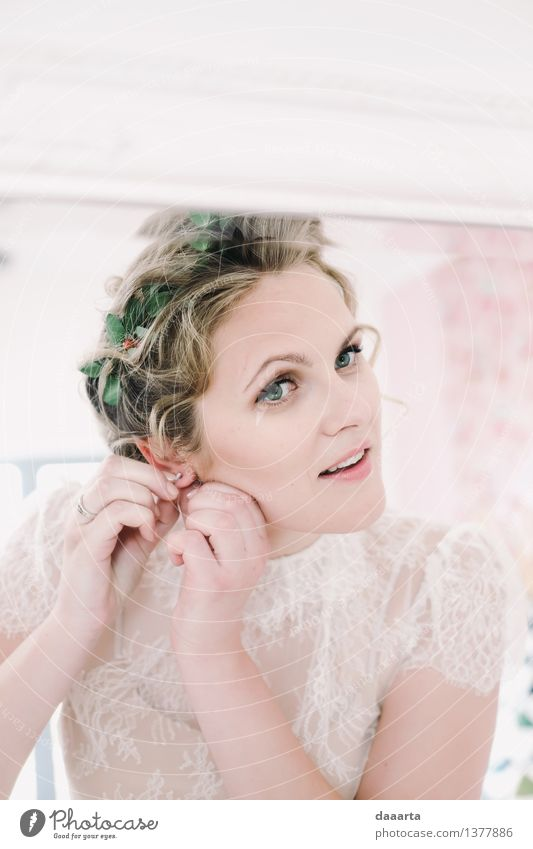 bride Lifestyle Elegant Style Joy Beautiful Hair and hairstyles Make-up Leisure and hobbies Trip Adventure Freedom Entertainment Event Feasts & Celebrations