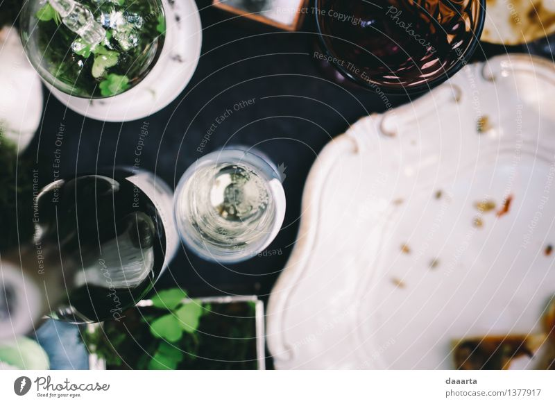 table setting 2 Plant Flower Environment Life Interior design Grass Style Playing Feasts & Celebrations Lifestyle Freedom Moody Party Design Wild