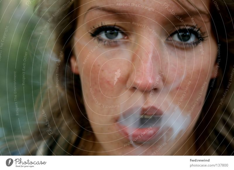 sound and smoke Smoke Emotions Hope Portrait photograph Cigarette Morning Suction No smoking Television Forget Close-up Breathe Air Calm Time