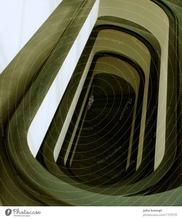 White Black Stairs Modern Banister Under Museum Ladder Downward Holy Rome Hell Temple Pope Vatican Gullet
