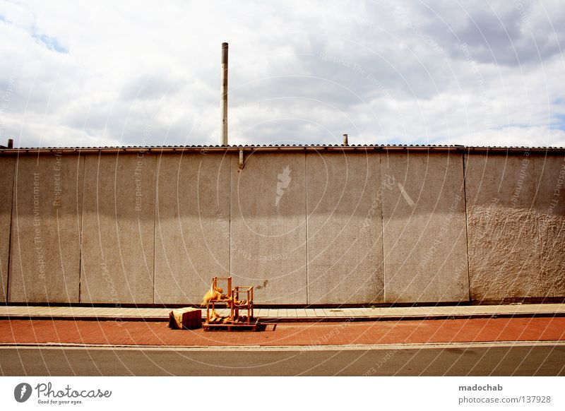 Sky Colour Architecture Gray Wall (barrier) Line Concrete Gloomy Industry Things Trash Trashy Boredom Graphic Industrial Indifference