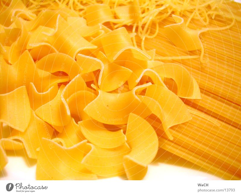 Pasta 1 Nutrition Noodles Spaghetti Cooking farvalle Colour photo Studio shot Close-up Detail Macro (Extreme close-up)