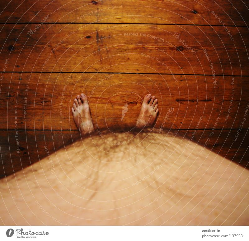 Human being Man Summer Nutrition Naked Wood Feet Healthy Floor covering Overweight Fat Stomach Weight Diet Toes