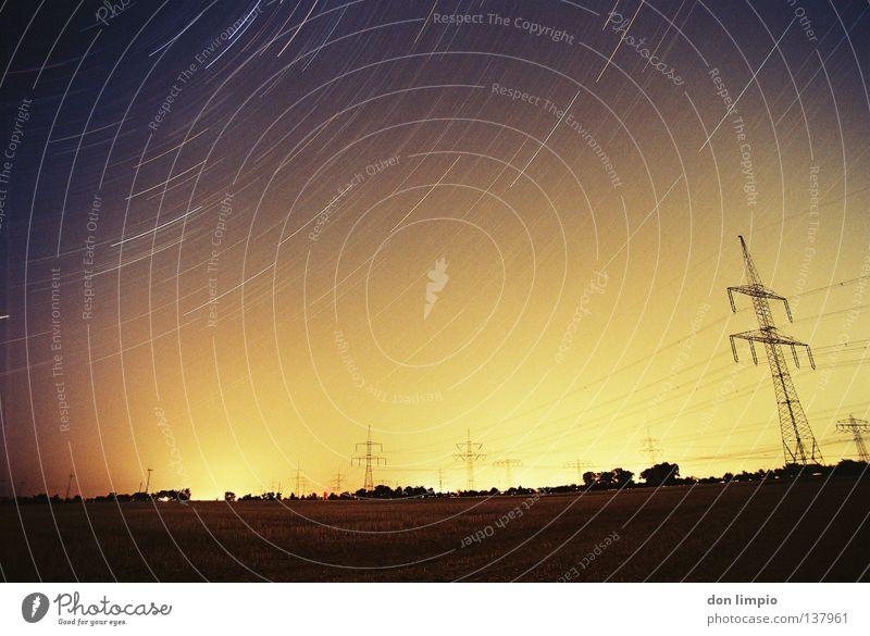Sky Movement Stars Horizon Energy industry Analog Starry sky