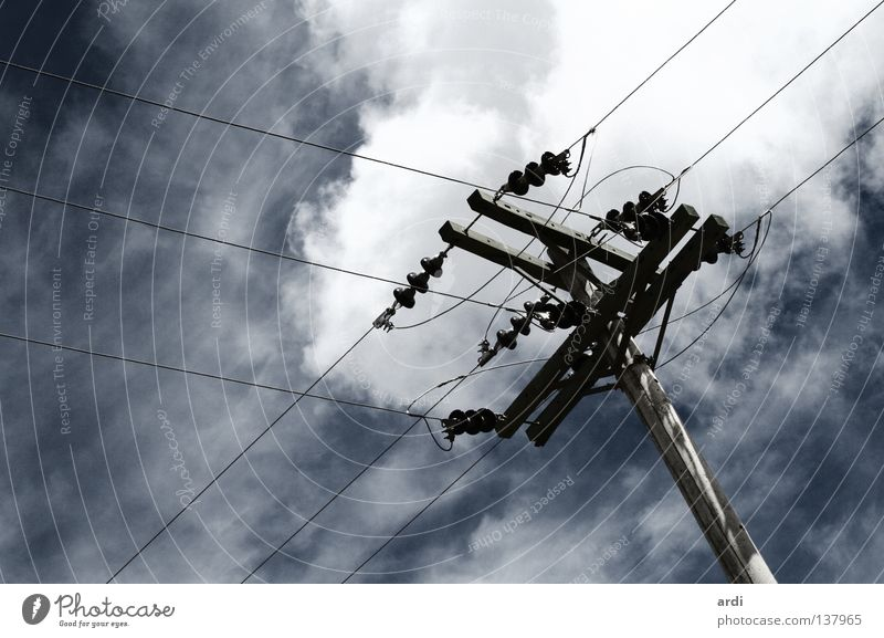 interconnected Electricity Electricity pylon Dangerous Transmission lines Power Juice Provision Environment Node Connection Electrical equipment Technology