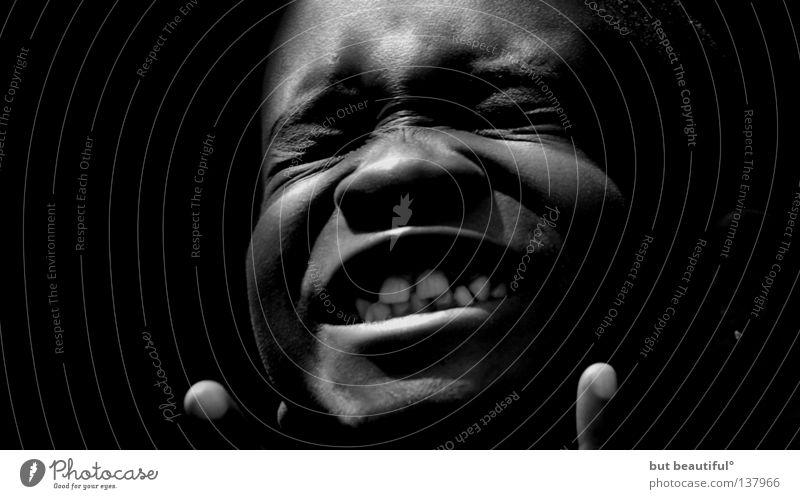 star Africa Emotions Joy Child Boy (child) Black & white photo To enjoy Teeth