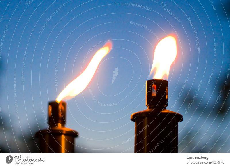 Blue Summer Warmth Orange Blaze Fire Hot Flame Torch Oil lamp