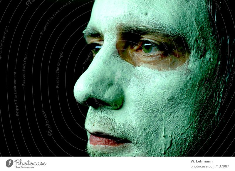 Man Green Red Eyes Mouth Warmth Nose Lips Mask Physics Transience Smoothness Sludgy Face mask Green thumb Wall of green