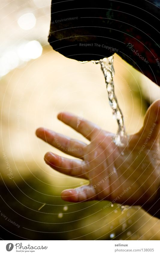 Child Hand Water Playing Drops of water Clarity Tap