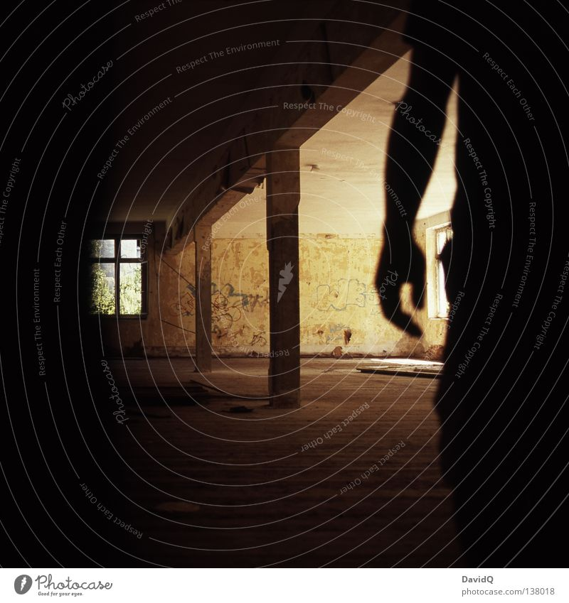 Human being Man Hand Dark Window Building Moody Room Fear Arm Dangerous Industry Threat Derelict Creepy Deep