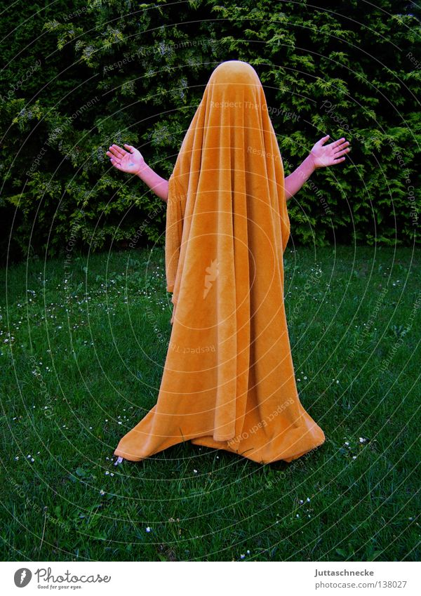 Hand Green Contentment Orange Communicate Peace Mysterious Hide Speech Ghosts & Spectres  Blanket Jesus Christ Hiding place Concealed Spooky Outstretched