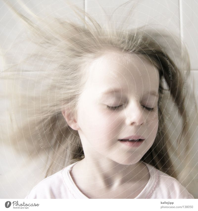 Child Girl Face Eyes Emotions Dream Hair and hairstyles Mouth Air Skin Pink Wind Nose Sleep Closed Future