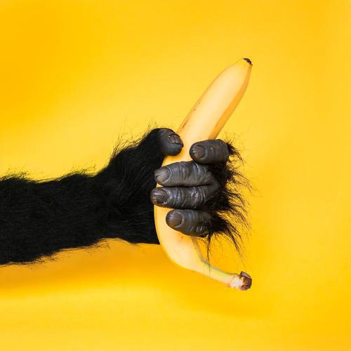 A banana for Ezra Food Fruit Lifestyle Style Design Carnival Advertising Industry Hand Art Sign To hold on Communicate Cool (slang) Exotic Funny Wild Yellow