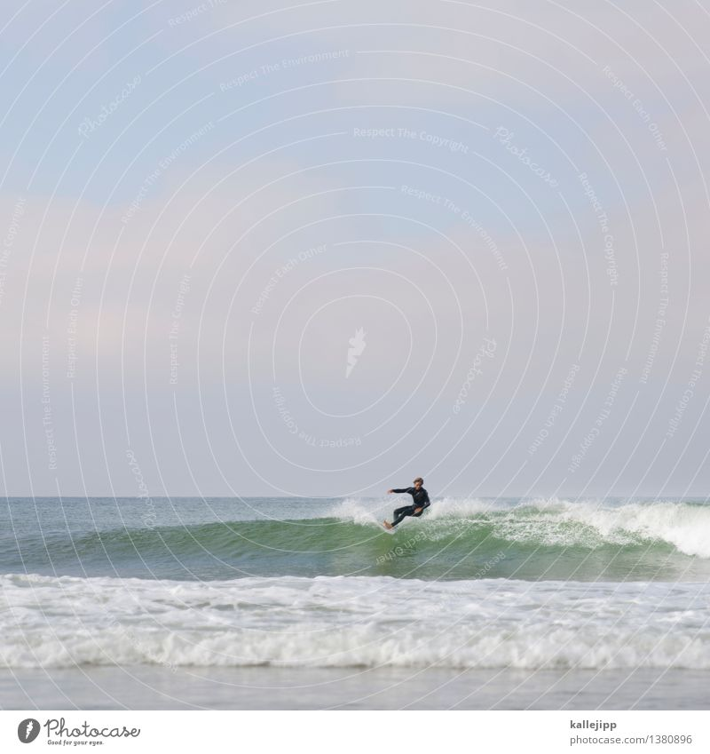 wave after wave Lifestyle Style Leisure and hobbies Sports Aquatics Human being Masculine Man Adults Body 1 18 - 30 years Youth (Young adults) Environment