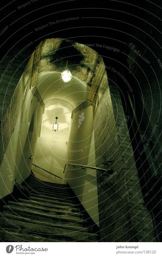 Dark Fear Crazy Stairs Italy Creepy Derelict Ladder Rome Staircase (Hallway) Soul Frightening Murder Assassin Colorless Thriller