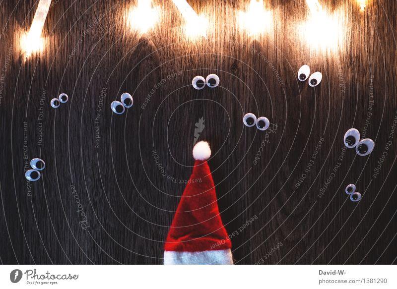 Christmas & Advent Joy Eyes Art Happy Feasts & Celebrations Group Infancy Wait Gift Observe Curiosity Group of children Mysterious Desire Anticipation