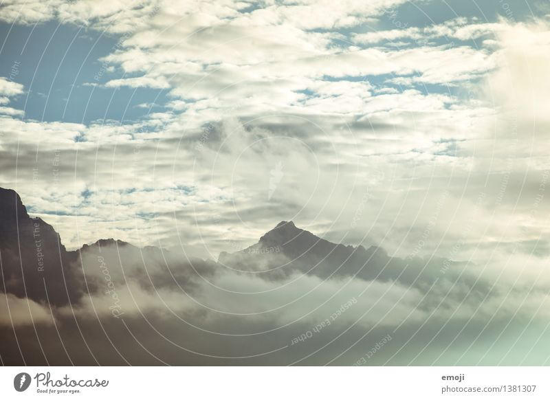 Sky Nature Clouds Mountain Environment Exceptional Weather Climate Peak Alps Dreamily Climate change