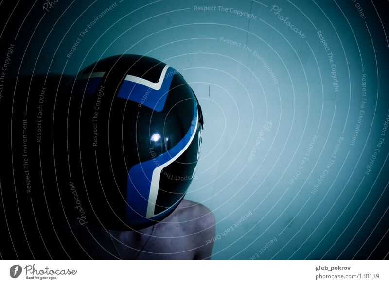 Human being Man Blue Colour Street Dark Wall (building) Head Wall (barrier) Line Room Skin Round Ball Front side Torso