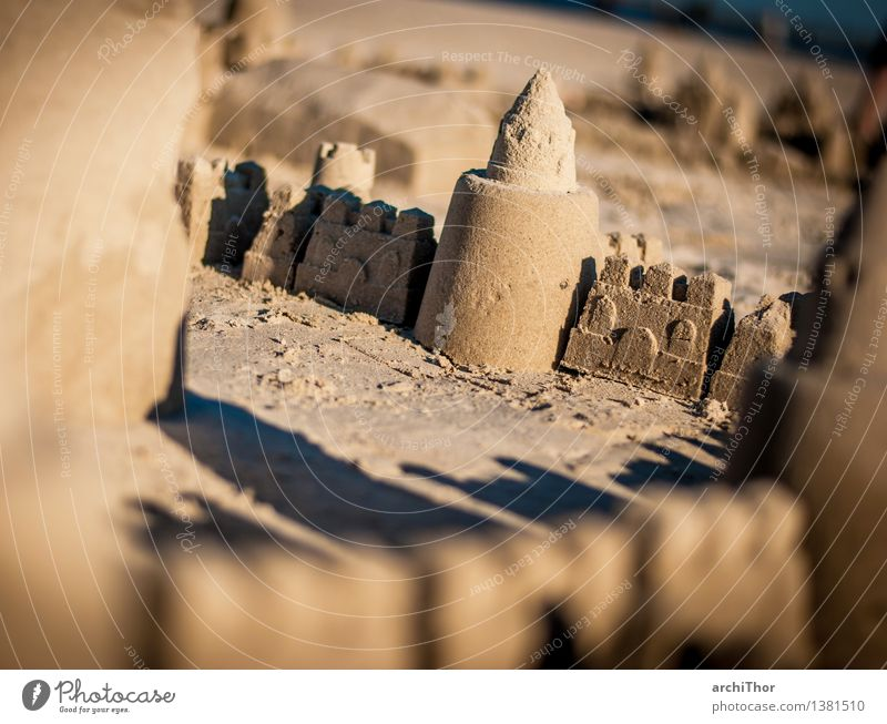 Room with sea view Manmade structures Build Brown Gray Orange Beautiful weather Beach sandcastle Desert Sand Vacation & Travel Infancy Summer Summer's day